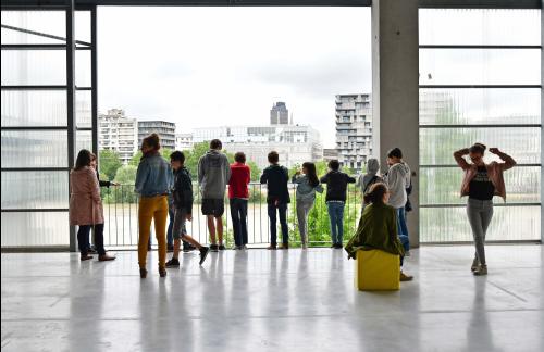 Architeliers Cycle 2 – Architecture : comment ça tient ? Ensan..Nantes (Loire-Atlantique) 06/2017 © Vincent Jacques/Samoa