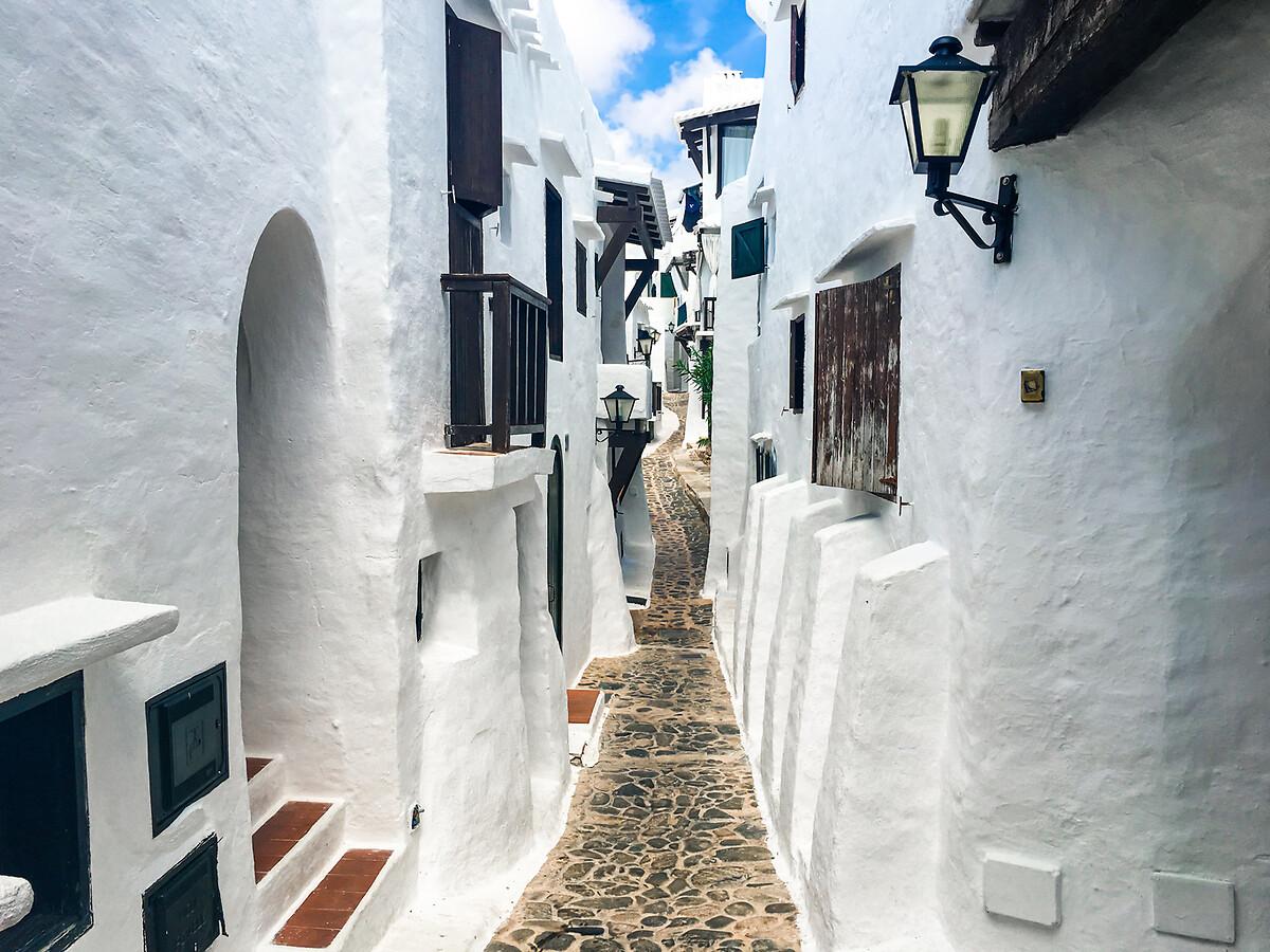 Binibeca, Minorque, Baléares, Espagne